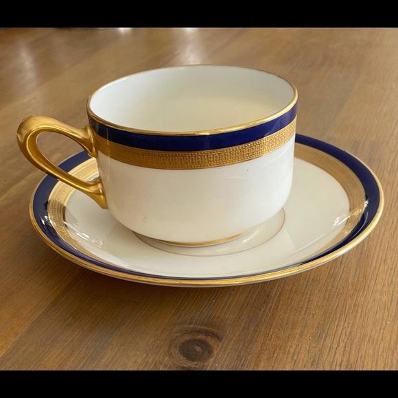 Lenox Shreve & Co TUXEDO COBALT BLUE GOLD Set